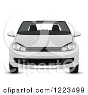 Clipart Of A White Car Royalty Free Vector Illustration by vectorace