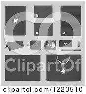 Clipart Of A Business Products On Gray Royalty Free Vector Illustration by vectorace