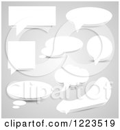 Clipart Of Grayscale Speech And Thought Balloons Royalty Free Vector Illustration by vectorace