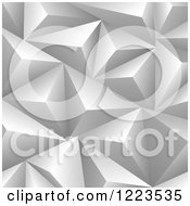 Clipart Of A Gray 3d Pyramid Background Royalty Free Vector Illustration by vectorace