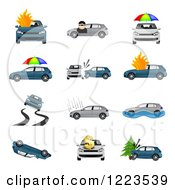 Clipart Of Car Insurance Designs Royalty Free Vector Illustration by vectorace