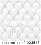 Clipart Of A Background Of White Leather Upholstery Royalty Free Vector Illustration