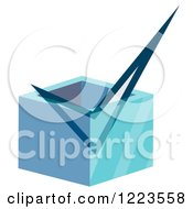 Clipart Of A 3d Check Mark In A Box Royalty Free Vector Illustration by vectorace