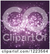 Clipart Of A Purple Background Of Sparkles Royalty Free Vector Illustration