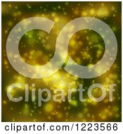 Clipart Of A Background Of Blurred Green And Yellow Lights Royalty Free Vector Illustration