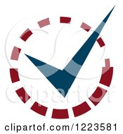 Clipart Of A Loading And Ready Check Mark Royalty Free Vector Illustration
