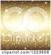 Clipart Of A Golden Burst Background Royalty Free Vector Illustration