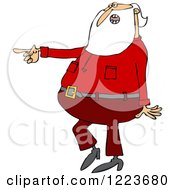 Clipart Of Santa Talking And Pointing Royalty Free Vector Illustration