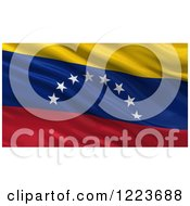 Clipart Of A 3d Waving Flag Of Venezuela With Rippled Fabric Royalty Free Illustration