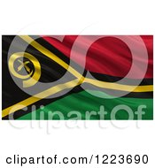 Clipart Of A 3d Waving Flag Of Vanuatu With Rippled Fabric Royalty Free Illustration