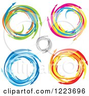 Clipart Of Colorful Circles Of Arrows Royalty Free Vector Illustration