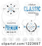 Clipart Of A Quality Designs With Swirls Royalty Free Vector Illustration