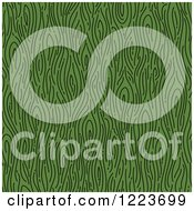 Seamless Green Wood Grain Pattern Background