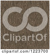 Seamless Brown Wood Grain Pattern Background