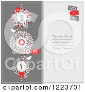 Clipart Of A Retro Bird And Wreath Christmas Greeting Design With Text Royalty Free Vector Illustration by elena