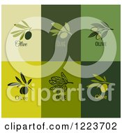 Clipart Of Green Olive Designs 2 Royalty Free Vector Illustration by elena