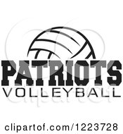 Clipart Of A Black And White Ball With PATRIOTS VOLLEYBALL Text Royalty Free Vector Illustration by Johnny Sajem