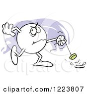 Clipart Of A Moodie Character Angrily Pulling The Plug Royalty Free Vector Illustration