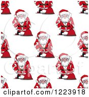 Clipart Of A Seamless Pattern Background Of Santas 2 Royalty Free Vector Illustration by Vector Tradition SM