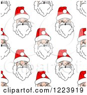 Clipart Of A Seamless Pattern Background Of Santas Royalty Free Vector Illustration
