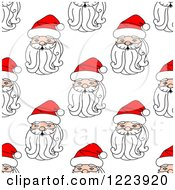 Clipart Of A Seamless Pattern Background Of Santas 3 Royalty Free Vector Illustration