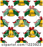 Clipart Of A Seamless Pattern Background Of Christmas Bells Royalty Free Vector Illustration