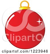 Clipart Of A Sparkly Red Christmas Bauble Ornament Royalty Free Vector Illustration by Hit Toon