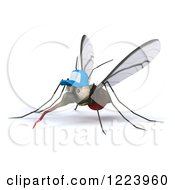 Clipart Of A 3d West Nile Virus Mosquito Wearing A Hat 2 Royalty Free Illustration
