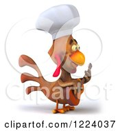 3d Chef Chicken Playing A Guitar 3