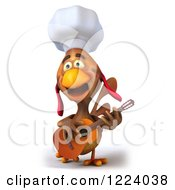 3d Chef Chicken Playing A Guitar 4