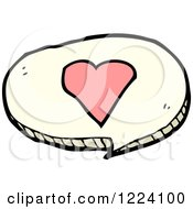 Cartoon Of A Speech Balloon With A Heart Royalty Free Vector Illustration
