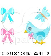Bluebird Butterfly And Bows
