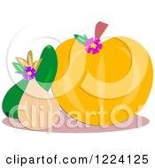Clipart Of Squash And Pumpkin Royalty Free Vector Illustration by bpearth