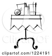 Black And White Items On A Magician Table