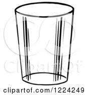 Clipart Of A Black And White Glass Cup Royalty Free Vector Illustration