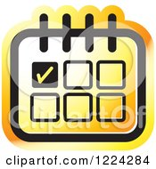 Clipart Of An Orange Appointment Calendar Icon Royalty Free Vector Illustration