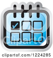 Clipart Of A Blue Appointment Calendar Icon Royalty Free Vector Illustration