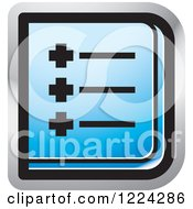 Clipart Of A Blue Menu Icon Royalty Free Vector Illustration