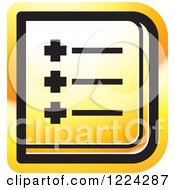 Clipart Of An Orange Menu Icon Royalty Free Vector Illustration