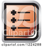 Clipart Of A Red Menu Icon Royalty Free Vector Illustration
