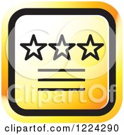 Clipart Of An Orange Ratings Icon Royalty Free Vector Illustration
