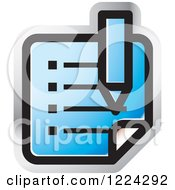 Clipart Of A Blue Review Icon Royalty Free Vector Illustration