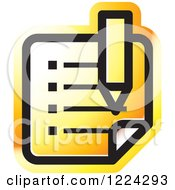 Clipart Of An Orange Review Icon Royalty Free Vector Illustration by Lal Perera
