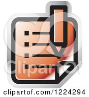 Clipart Of A Red Review Icon Royalty Free Vector Illustration by Lal Perera