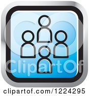 Clipart Of A Blue Social Media Icon Royalty Free Vector Illustration