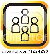 Clipart Of An Orange Social Media Icon Royalty Free Vector Illustration