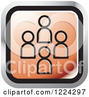 Clipart Of A Red Social Media Icon Royalty Free Vector Illustration