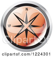 Clipart Of A Red Compass Direction Icon Royalty Free Vector Illustration by Lal Perera