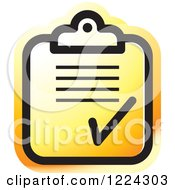 Clipart Of An Orange Form Icon Royalty Free Vector Illustration by Lal Perera