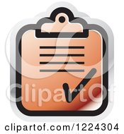 Clipart Of A Red Form Icon Royalty Free Vector Illustration by Lal Perera